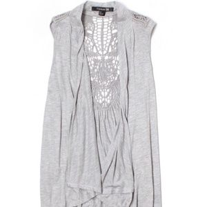 Small Forever 21 Grey Knit Cardigan